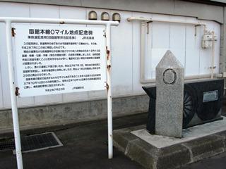 函館本線0マイル地点