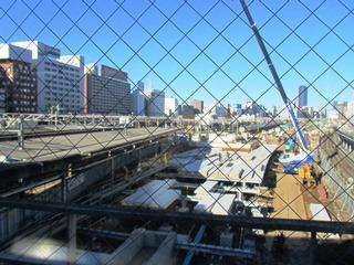 品川駅10番ホーム移設工事(10/12/23)