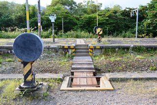 中ノ沢駅ホーム踏切