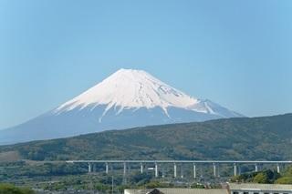 新幹線車中から望む富士山3