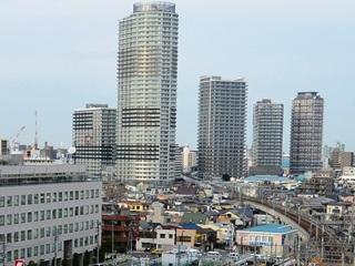 東武曳舟駅周辺の高層マンション群