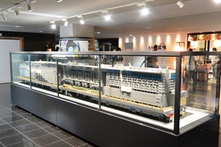 京都駅ビルのレゴブロック・ミニチュア2