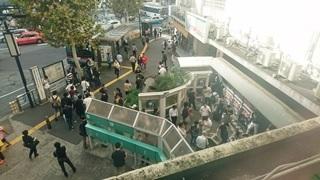 ぜんそくに侵されても不思議ではない渋谷駅前モヤイ像