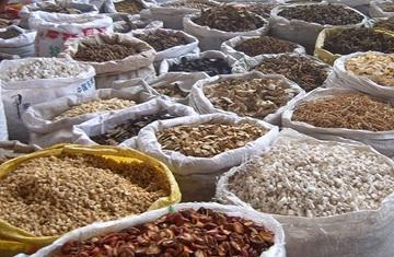 健康食品の原料倉庫