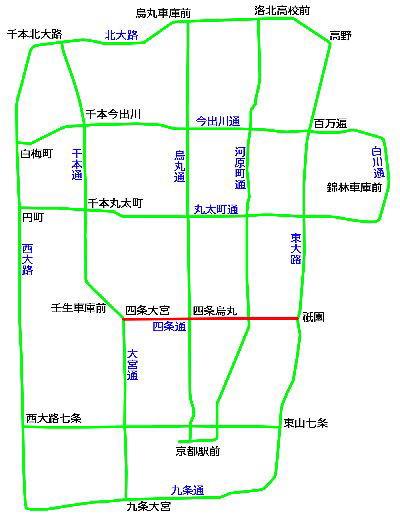 図 路線 京都 市電
