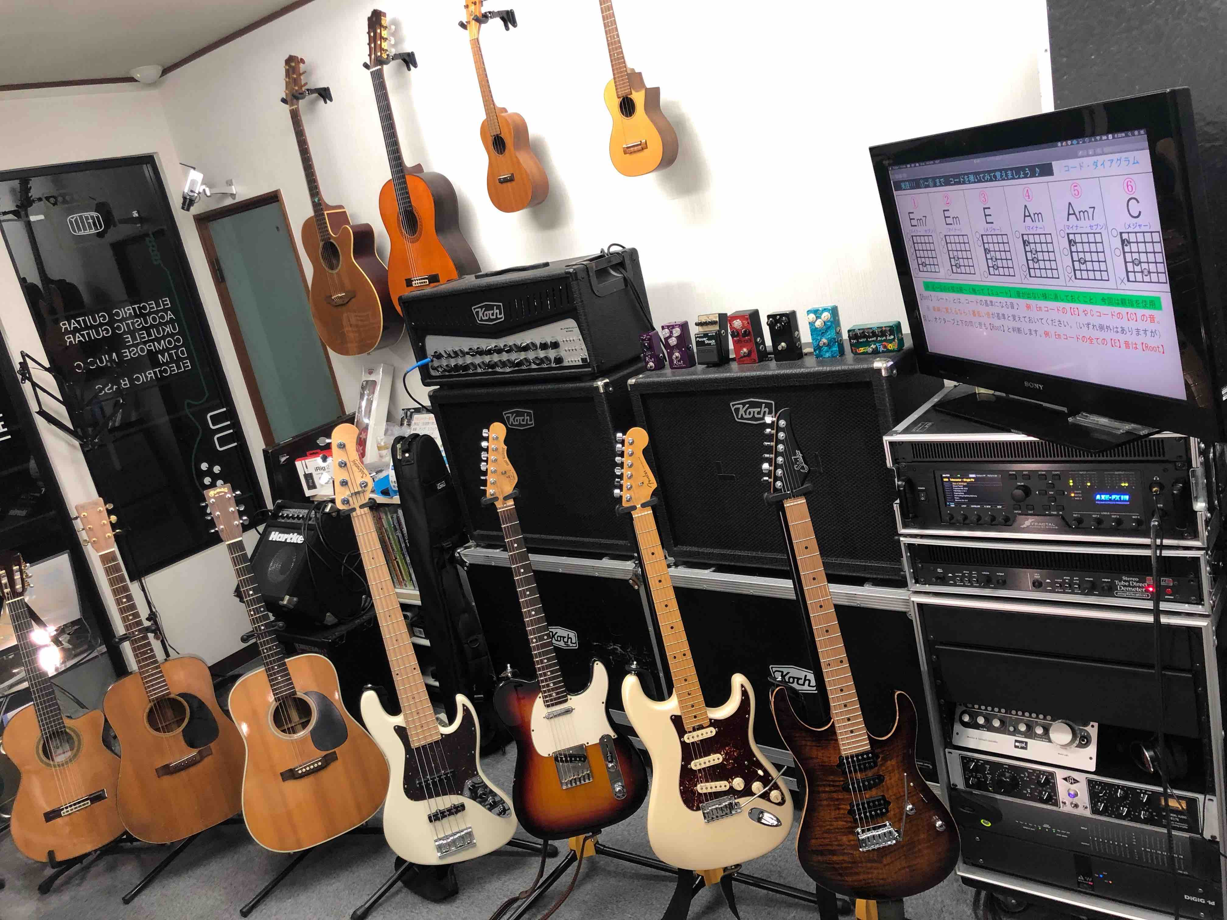 TELLYギター教室の楽器